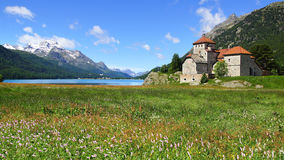 Silvaplana Castle near St. Moritz. Switzerland Stock Photo