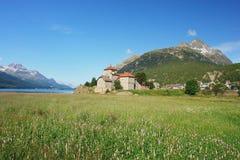 Silvaplana, Switzerland. Lake Silvaplana in the Swiss Alps, Switzerland Royalty Free Stock Photos