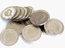 Silver 20 Round Coin Stock Photos