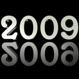 Silver 2009 with reflection Royalty Free Stock Images