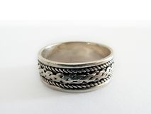 Silver. Ring Royalty Free Stock Photo