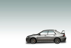 Silver 4WD rally car. With gradient background Royalty Free Stock Image