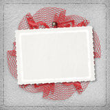 Silver abstract background with card. For greeting or congratulation Stock Photography