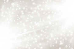 Silver abstract background with shiny rays and stars. Vector illustration Royalty Free Stock Photo