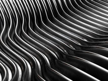 Silver abstract curve metal backgound Royalty Free Stock Photo
