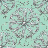 Silver Abstract Flower Pattern Royalty Free Stock Photos