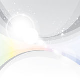 Silver abstract, lighting effects Royalty Free Stock Photos
