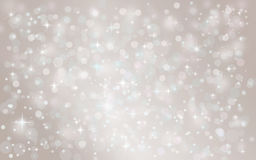 Silver abstract snow falling winter christmas holiday background. With sparkles and glitter Royalty Free Stock Photo