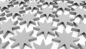 Silver abstract stars background. Rendered Stock Photography