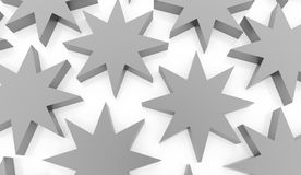 Silver abstract stars background. Rendered Stock Photo
