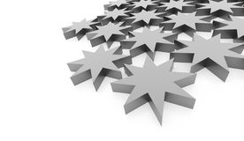 Silver abstract stars background. Rendered Royalty Free Stock Image