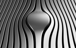 Silver abstract stripe luxury background. 3d illustration Royalty Free Stock Image