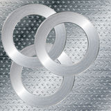 Silver abstract tech background Stock Images