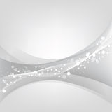 Silver abstract vector background Royalty Free Stock Images