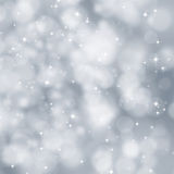 Silver abstract Xmas background Royalty Free Stock Photos