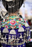 Silver accessories of Miao nationality. Wearing on woman's hair and clothes to celebrate the local festival at fenghuang ancient town,china Royalty Free Stock Images