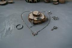 Silver accessories stock photo