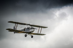 Silver Aeroplane Royalty Free Stock Photos
