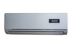 Silver air conditioner Stock Photography