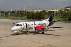 Silver Airways regional flight Stock Images