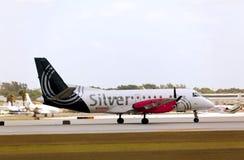 A Silver Airways Saab 340B aircraft. Royalty Free Stock Image