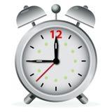 Silver alarm clock Stock Photos