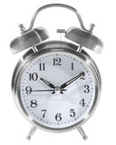 Silver Alarm Clock Stock Photo