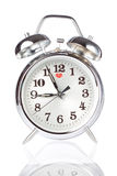 Silver Alarm Clock. Stock Photo