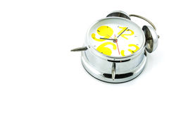 Silver alarm clock Royalty Free Stock Photo