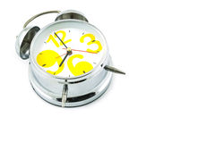 Silver alarm clock Stock Images