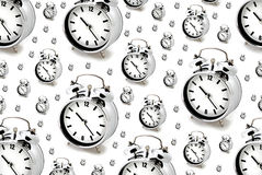 Silver alarm clocks Royalty Free Stock Photo
