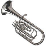 Silver Alto Horn Stock Image