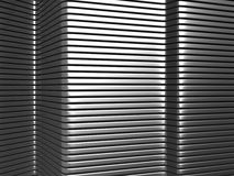Silver aluminium stripe pattern Stock Photography