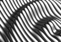 Silver aluminium wave shape stripe background Royalty Free Stock Photos