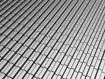Silver aluminum brick pattern background Royalty Free Stock Images