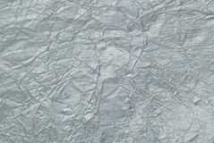 Silver aluminum foil background Stock Images
