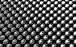 Silver aluminum shiny beans pattern Royalty Free Stock Photo