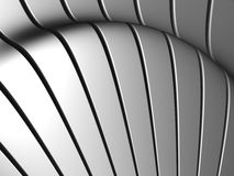 Silver aluminum stripe background. 3d illustration Royalty Free Stock Photography