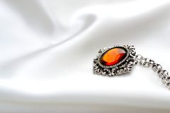 Free Silver Amber Necklace Stock Photography - 28667772