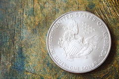 Silver American Eagle coin Stock Images