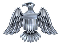 Silver American Eagle Shield Royalty Free Stock Photography