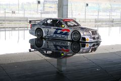 Silver AMG Mercedes DTM car Royalty Free Stock Photography