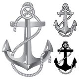 Silver anchor. Symbol of sailors in format Stock Illustration