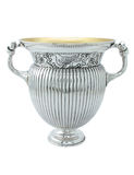 Silver ancient amphora Stock Images