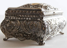 Silver ancient casket Stock Images