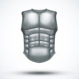 Silver ancient gladiator body armor. Vector Illustration  on white background Stock Photos