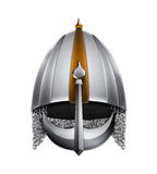 Silver ancient helmet Royalty Free Stock Images
