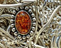 Silver And Amber Stock Photography