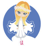 Silver angel Royalty Free Stock Images