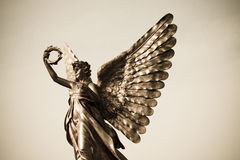 Silver angel statue Royalty Free Stock Photo